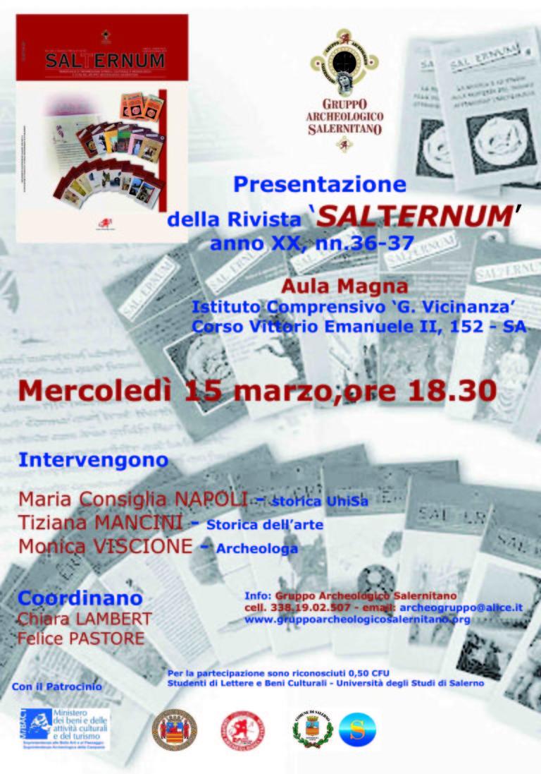 poster ridotto Presentazione Salternum anno XX ridotta
